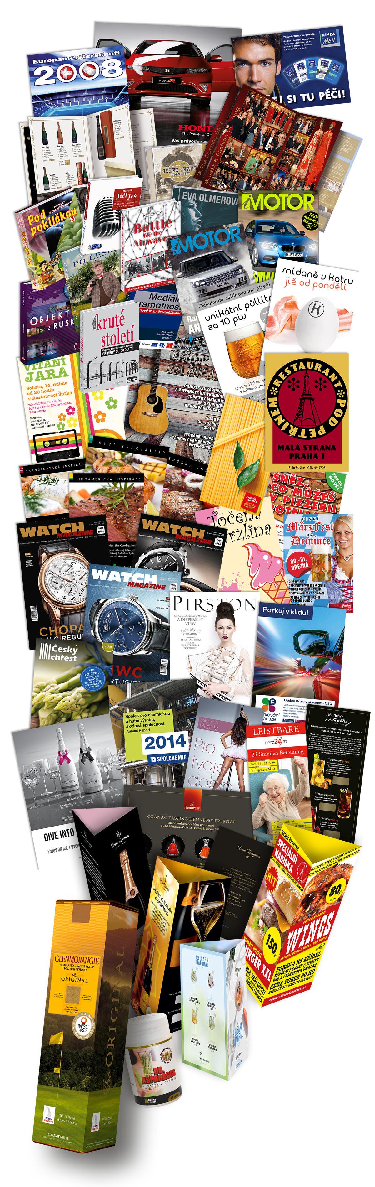 Tiskové materiály tisk grafika grafik leták katalog brožura levně